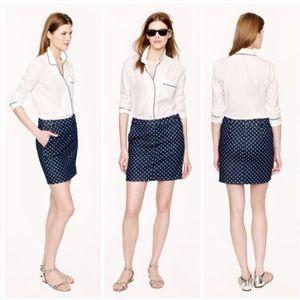 Polka Dot Denim Skirt